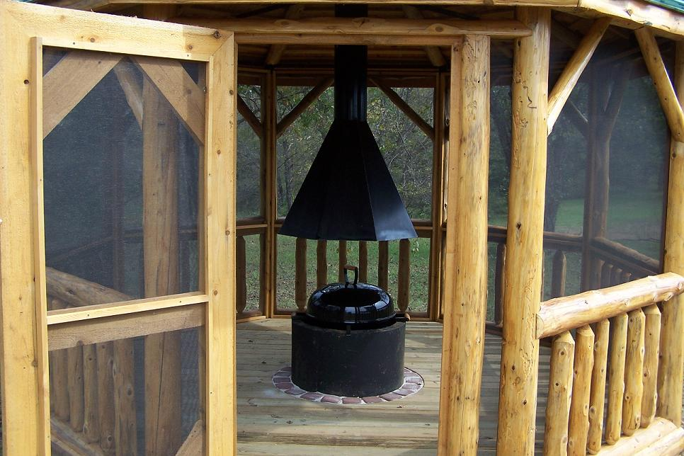 Log Gazebo styled Gazebeque
