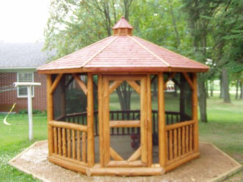 12' Log Gazebo Display Model @ Gazebo Park